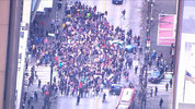 KIRO 7 Chopper over downtown protest.