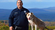 Poughkeepsie Police Officer Justin Bruzgul poses with K9 partner Kiah. CITY OF POUGHKEEPSIE/FACEBOOK