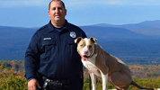 Poughkeepsie Police Officer Justin Bruzgul poses with K9 partner Kiah. CITY OF POUGHKEEPSIE/FACEBOOK