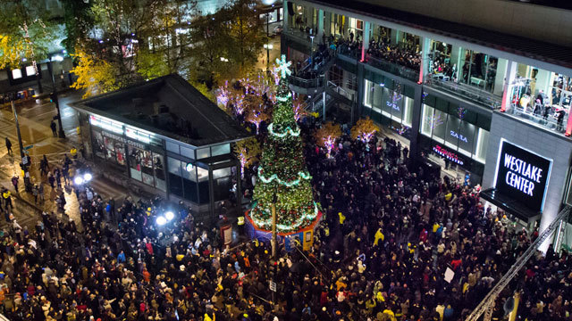 Image via downtownseattle.com - Westlake Holiday Tree Lighting To Be Downsized KIRO-TV