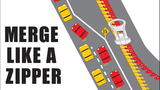 Trooper Brian Moore posted this photo to remind Washington drivers to merge like a zipper while on the road. (Trooper Brian Moore, Washington State Patrol)