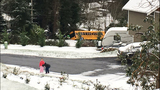 School bus with children on board slides into ditch on Camano Island