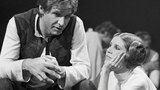 "In this Nov. 13, 1978 file photo, Harrison Ford talks with Carrie Fisher during a break in the filming of the CBS-TV special ""The Star Wars Holiday"" in Los Angeles. (AP Photo/George Brich, File)"