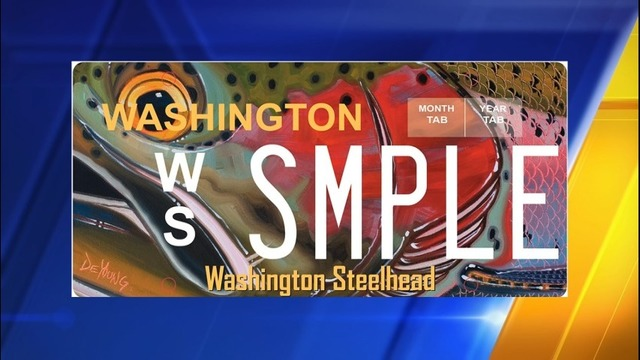 New steelhead license plates now on sale kiro tv for Washington state fishing license cost