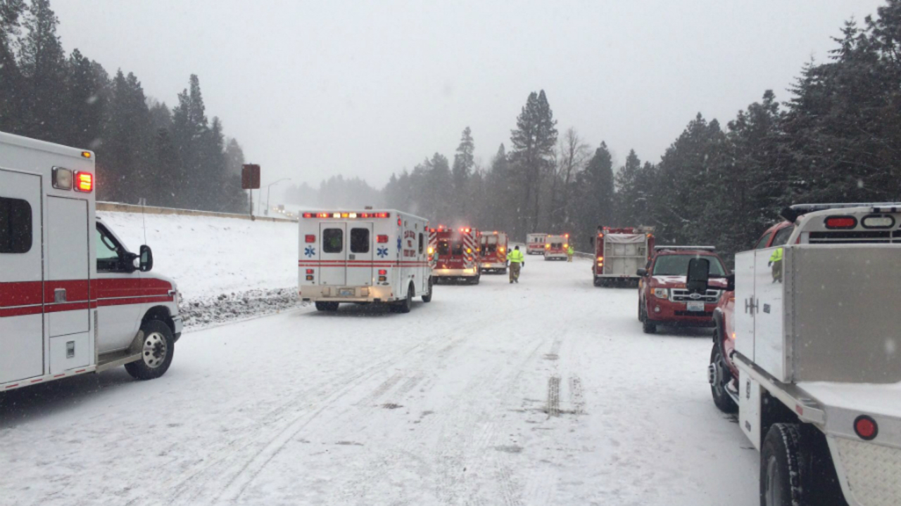 Eastbound I-90 closed for multiple collisions, serious injuries