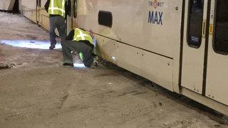 Commuter train derails in Portland
