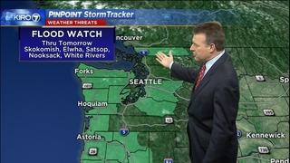 Heavy rain tonight sparks flood watch with freezing rain on mountain passes