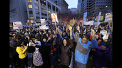 Thousands of people in Seattle protested President Donald Trump's executive order regarding immigration. Protests occurred Saturday and Sunday in several U.S. cities. (Elaine Thmopson/The Associated Press)
