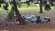 Unclaimed items left along the Burke-Gilman Trail near Gas Works Park. (MyNorthwest)