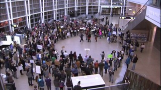 Sea-Tac Airport officials defending their response to travel ban protesters
