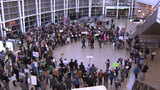 File photo from Sea-Tac Aiport protest in January.