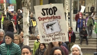 PHOTOS: Immigration marchers rally for detainee