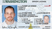 Standard license; Washington DOL file photo