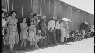 Photos show families of Japanese ancestry at internment camps after…