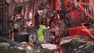 Fire in semi-truck extends to Kent home