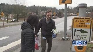 Eyewitness returns to crosswalk where pedestrian died