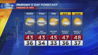 VIDEO: KIRO 7 Pinpoint Weather Forecast for Monday evening