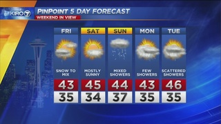 VIDEO: KIRO 7 Pinpoint Weather Forecast for Thursday evening