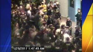 New Port video shows Sea-Tac Airport protest when pepper spray was deployed