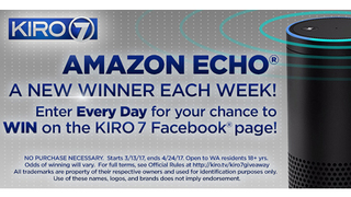 KIRO 7 is giving away an Amazon Echo!