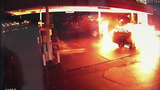 FRAME BY FRAME: Car crash into gas pump… - (3/8)