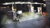 FRAME BY FRAME: Car crash into gas pump… - (1/8)