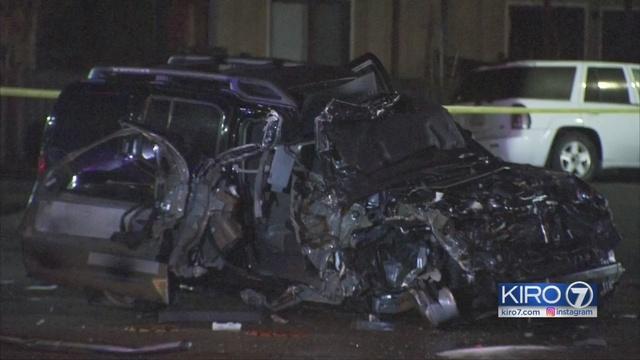 Witness Suv Driver Erratic Before Crashing Into Gas Pump Kiro Tv