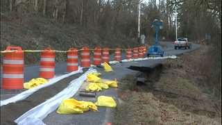 Slide repairs to cause delays on main access road in Duvall