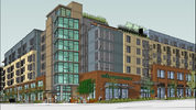 Architect's drawing of West Seattle Whole Foods project