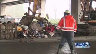 People living under West Seattle Bridge allowed to stay after clean up