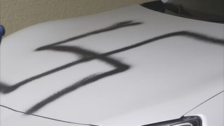 Swastikas spray painted on vehicles in Edmonds