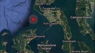 Small earthquake rumbles near Port Townsend