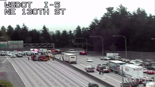 TRAFFIC UPDATE: All lanes of 1-5 reopened at NE 145th St