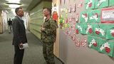 Military families celebrate the last of six new elementary schools on…