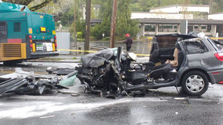 Man rescued after Metro bus, vehicle collide in Seattle