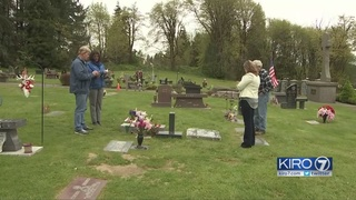 Family says monument to slain man damaged, wants cemetery to pay