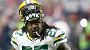 FILE - In this Dec. 27, 2015, file photo, Green Bay Packers running back Eddie Lacy (27) warms up before an NFL football game against the Arizona Cardinals in Glendale, Ariz. The running back launched a two-day garage sale at his home in suburban Green Bay on Friday, May 5, 2017, and it was basically sold out before dinner. T-shirts, unused Under Armor cleats, Packers hoodies and more, all gone in a matter of hours. (AP Photo/Ross D. Franklin, File)