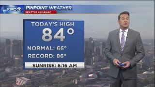 KIRO 7 PinPoint Weather video for Monday morning