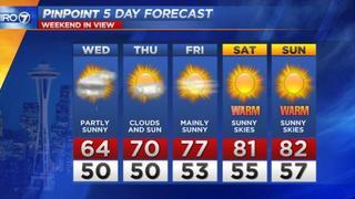 KIRO 7 Pinpoint Wednesday Forecast