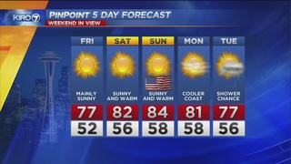 KIRO 7 PinPoint Weather Video for Thurs. evening