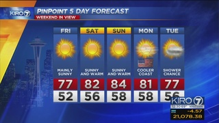 KIRO 7 PinPoint Weather video for Fri. afternoon