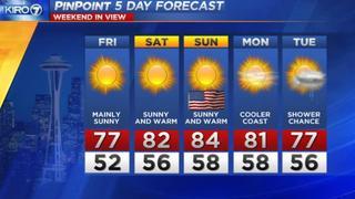 KIRO 7 Pinpoint Friday Forecast