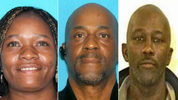 Police tell KIRO 7 these three suspects all have warrants for their arrest because they're all believed to have stolen money. Left to right: Flaime Reynolds, John Bowens, James Dodds.