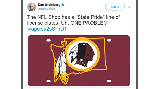 lowest price 50b46 05e07 Official NFL Shop mistakes Washington state for Redskins ...