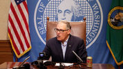 Gov. Jay Inslee shown on Thursday, June 22, 2017, in Olympia, Wash. (AP Photo/Rachel La Corte)