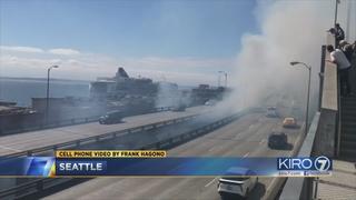 Man arrested for setting fire below Alaskan Way Viaduct