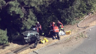 1 person taken to hospital after crash near Woodland Park