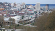Downtown Tacoma from the bridge next to Stanley and Seaforts. Wikimedia Commons