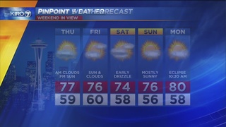 KIRO 7 PinPoint Weather Video for Wed. evening