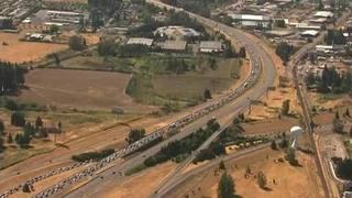 I-5 bumper-to-bumper in Oregon after eclipse
